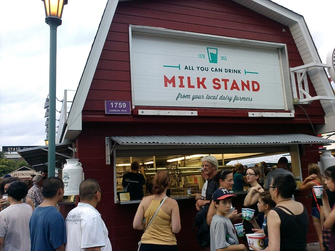 Figure 3: The all-you-can-drink milk stand